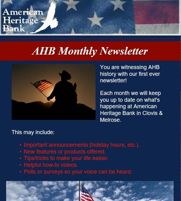 Image of our online newsletter